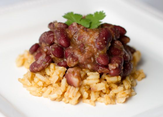 Spanish Rice and Beans - The Blissful Bean