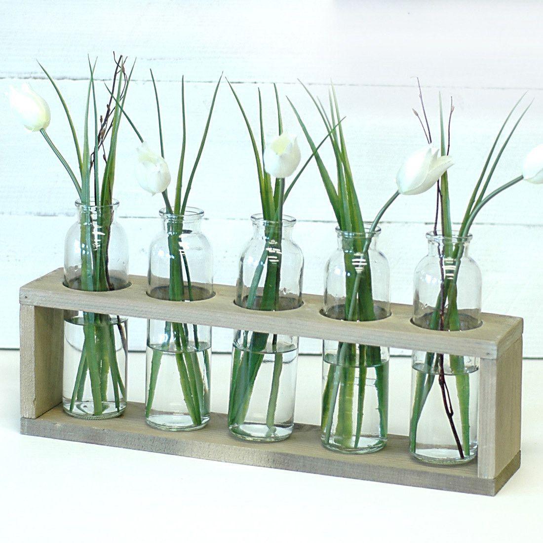 5 Bottle Rustic Centerpiece Vases Divisorias