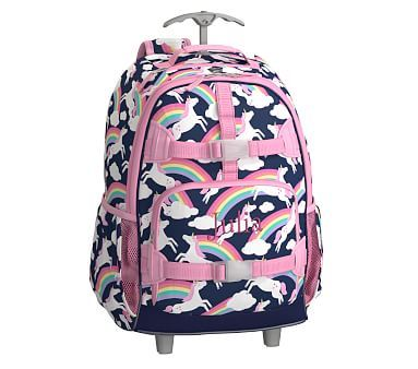 Navy Rainbow Unicorn Rolling Mackenzie Backpack