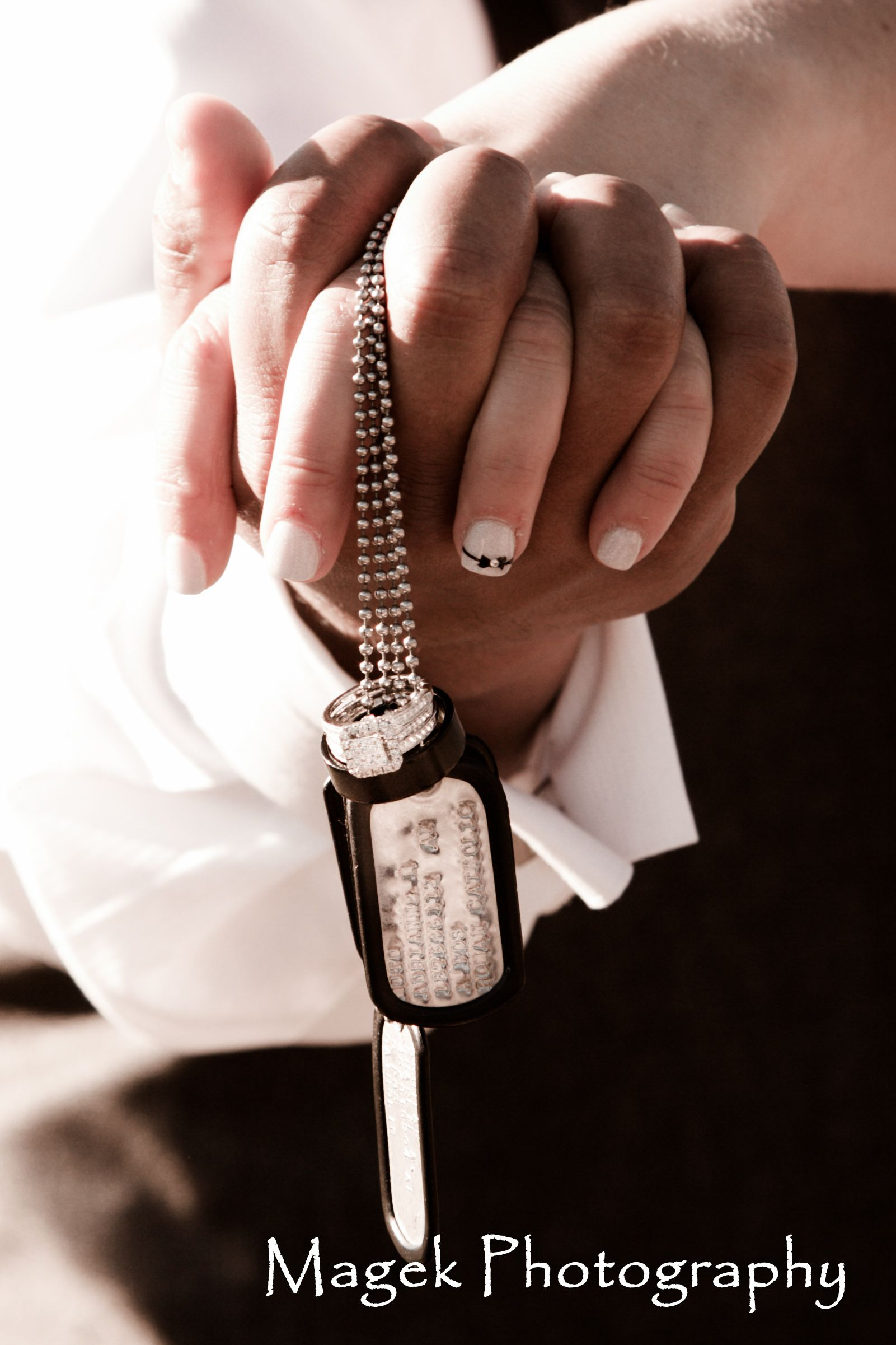 military tags and wedding rings magek photography wwwmagekphotocom click to see - Military Wedding Rings