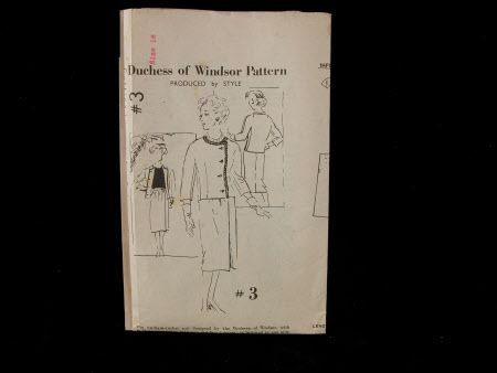 Dressmaking pattern; Daily Express - Duchess of Windsor Pattern. Paper pattern.