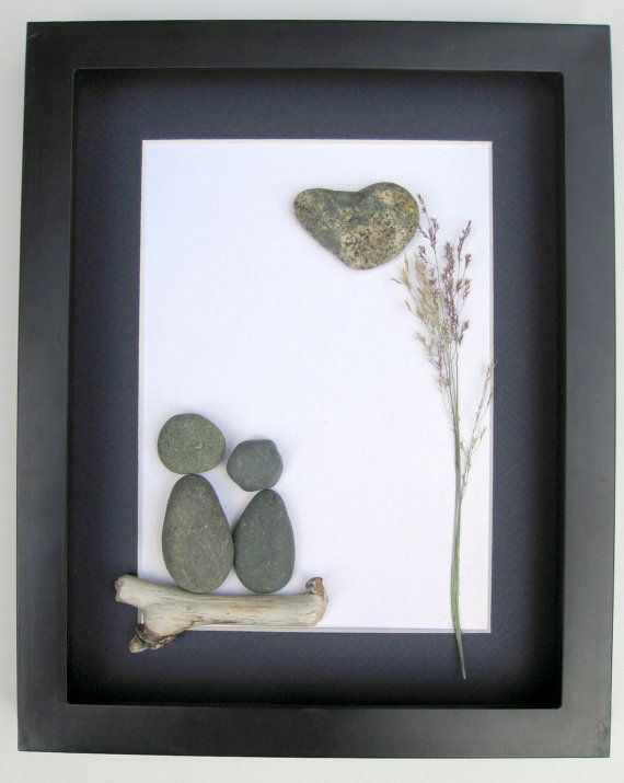 Unique Engagement Gift- Personalized Couple's Gift -  Pebble Art - Love Gifts on…
