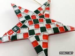Resultado de imagen para mosaic christmas decorations