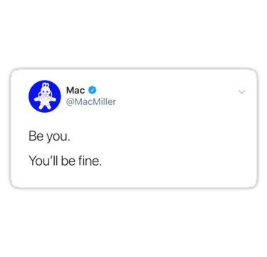 'Mac Miller tweet' Sticker by McKenzie Carter #macmiller A tweet to mac's followers before he passed • Millions of unique designs by independent artists. Find your thing.