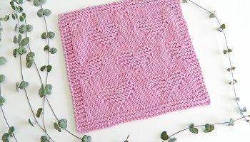 VALENTINES knitting: beginner dishcloth or blanket block – Oh La Lana!