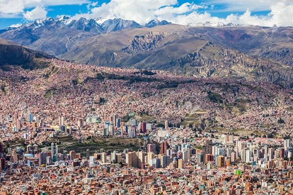 Bolivia Capital La Paz La Paz Landlocked Country Stock Photos