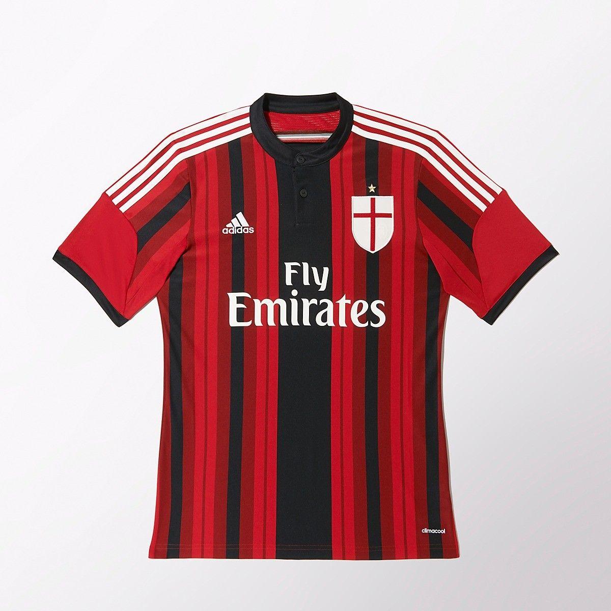Sentimental Convertir Eléctrico  Adidas AC Milan Home Jersey 14/15 | Retro football shirts, Ac milan, Shirts