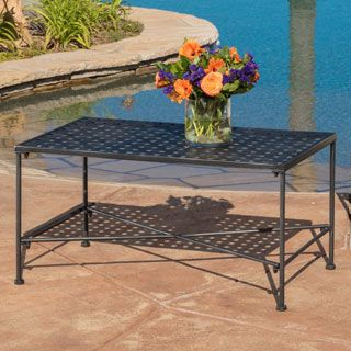 Petra Outdoor Iron Coffee Table By Christopher Knight Home