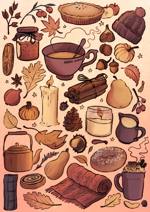 Trying Out Sketching In Procreate Again Trying To Hari Conner Illustration In 2020 Fall Wallpaper Fall Drawings Cute Fall Wallpaper