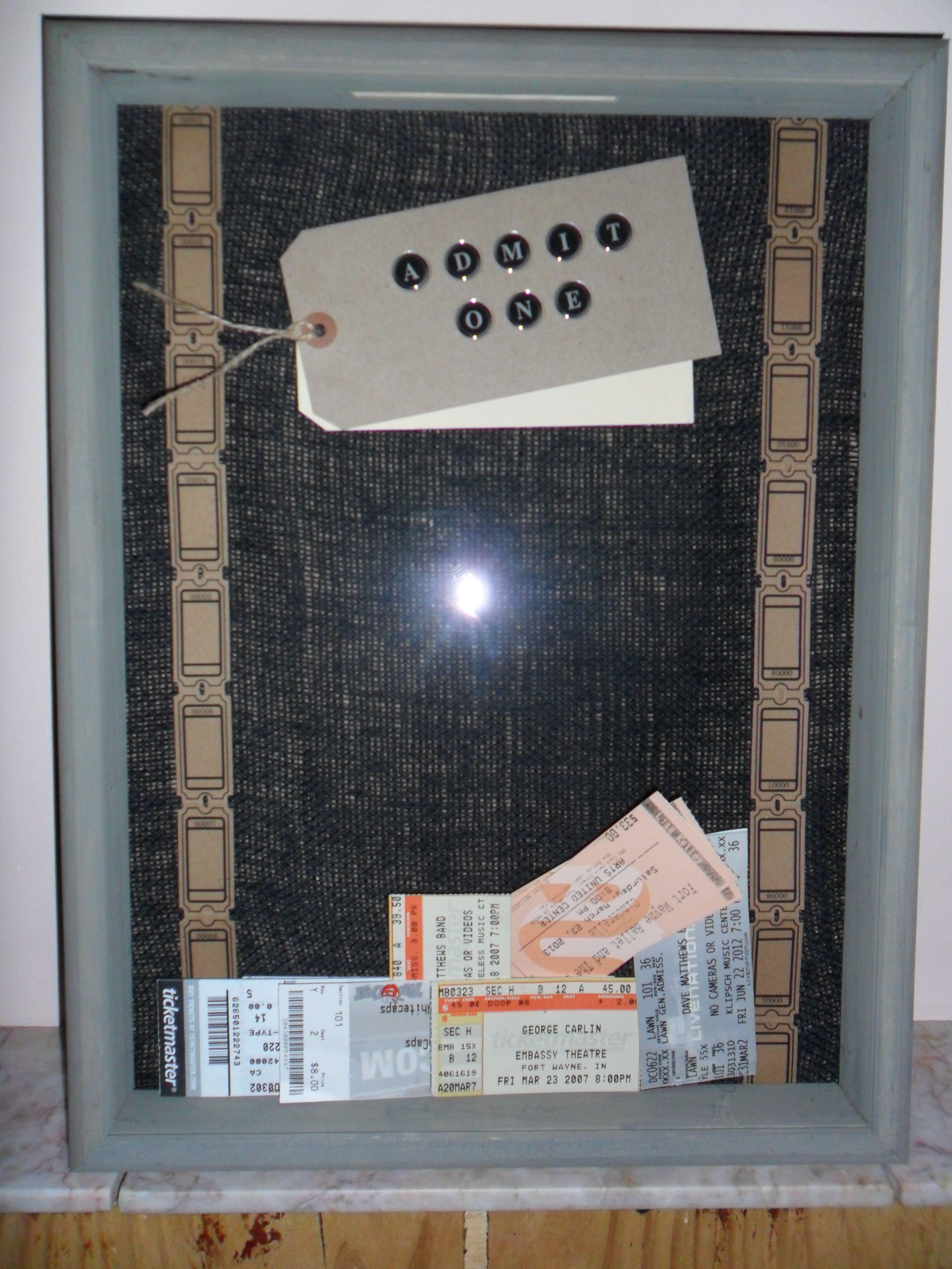 Admit one, ticket stub shadow box!