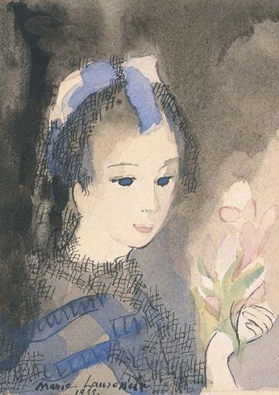 Marie Laurencin Jeune Fille Aux Fleurs Art Moderne Cubiste