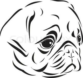 Pin By Felipe Diaz On Lustige Tiere Pug Tattoo Pugs Black And White Pug
