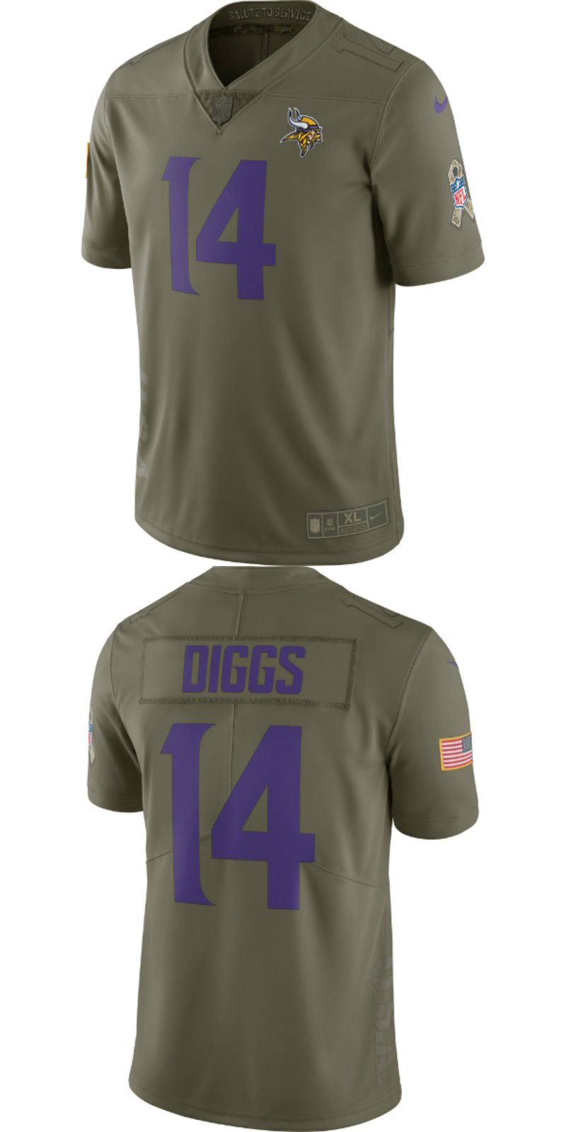 promo code a7035 87f6b UP TO 70% OFF. Stefon Diggs Minnesota Vikings Nike Salute To ...