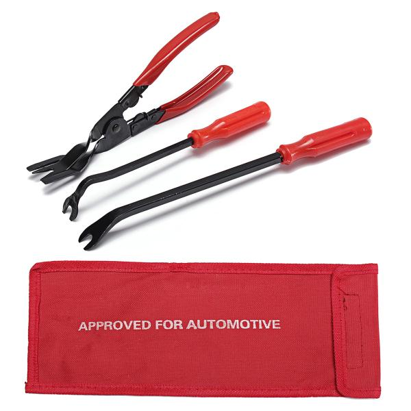 3 Pcs Removal Tool Door Trim Rivets Clips Pliers Fastener Remover Puller Tool Kit Set Fasteners Removal Tool Door Trims