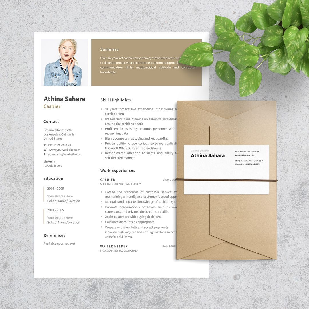 Cashier Resume A Good Intended And WellFormatted Resume Can
