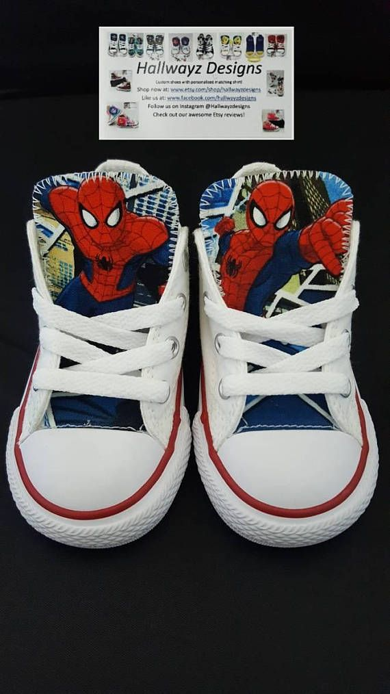 fetching how to design converse shoes at home. Spiderman converse shoes  custom white sneakers kids birthday party superhero kicks Converse