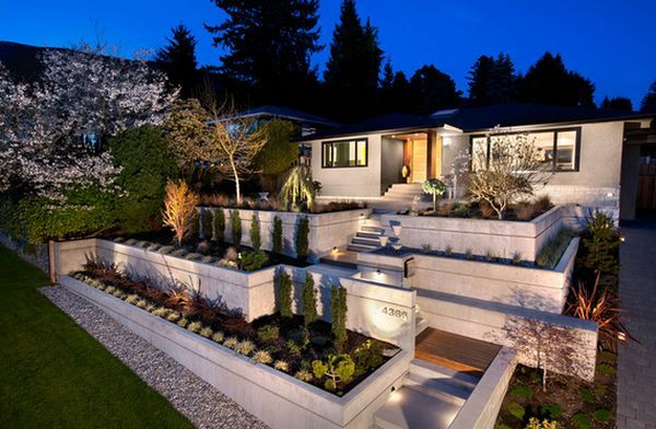 terraced front yard landscaping front yard landscape ideas that make an impression could be a great backyard raised garden area with an impact - Modern Front Yard Garden Ideas