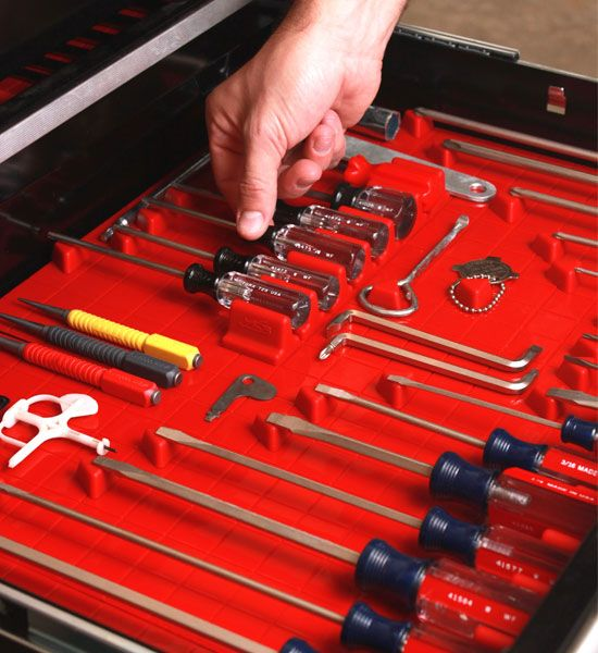 Tool Drawer Liner and Toolbox Organizer System in Tool Storage ...