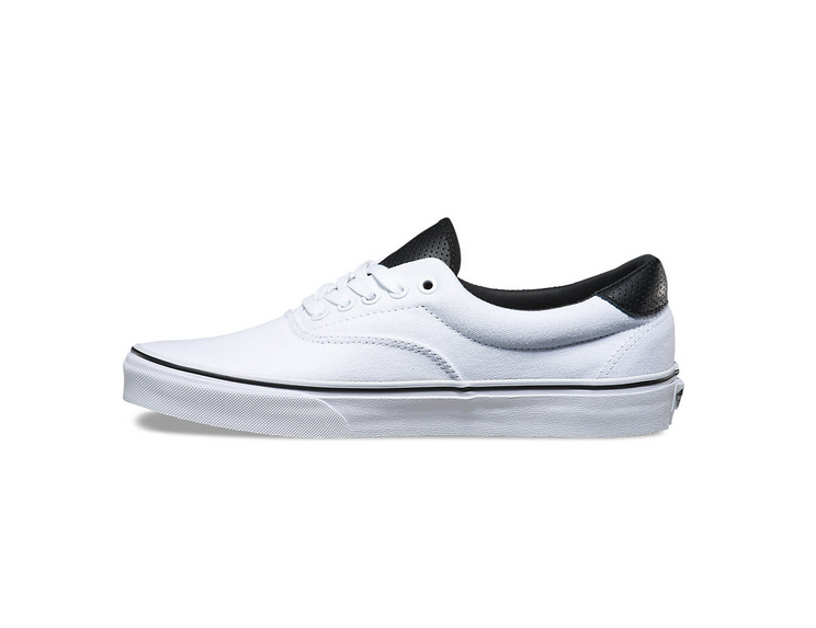 cb5333be992a8d Vans (C P) Era 59 Classic True White Black Mens Shoes  Vans