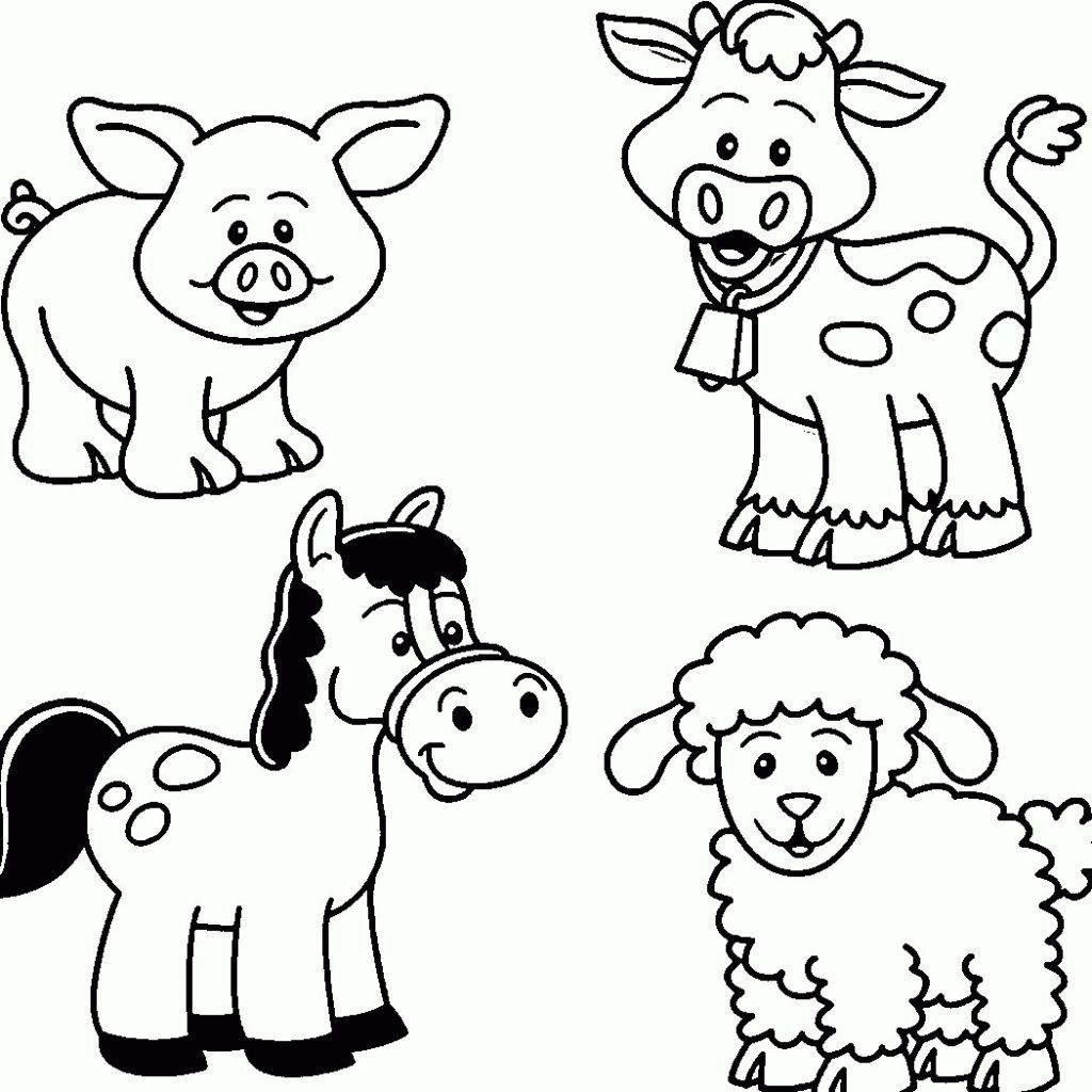 Animal Coloring Pages for Kids New Easy Coloring Pages for
