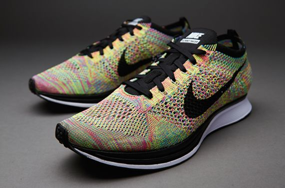 Nike Flyknit Racer - Mens Shoes - Game Royal/Black-Pink Flash - 526628-004