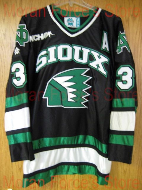 Gemini 1996-97 Sioux Hockey Jerseys  3 Mark Pivetz Special Jersey  University of North Dakota Game Worn XXS-6XL - Free Shiping 09bdc3a25ae