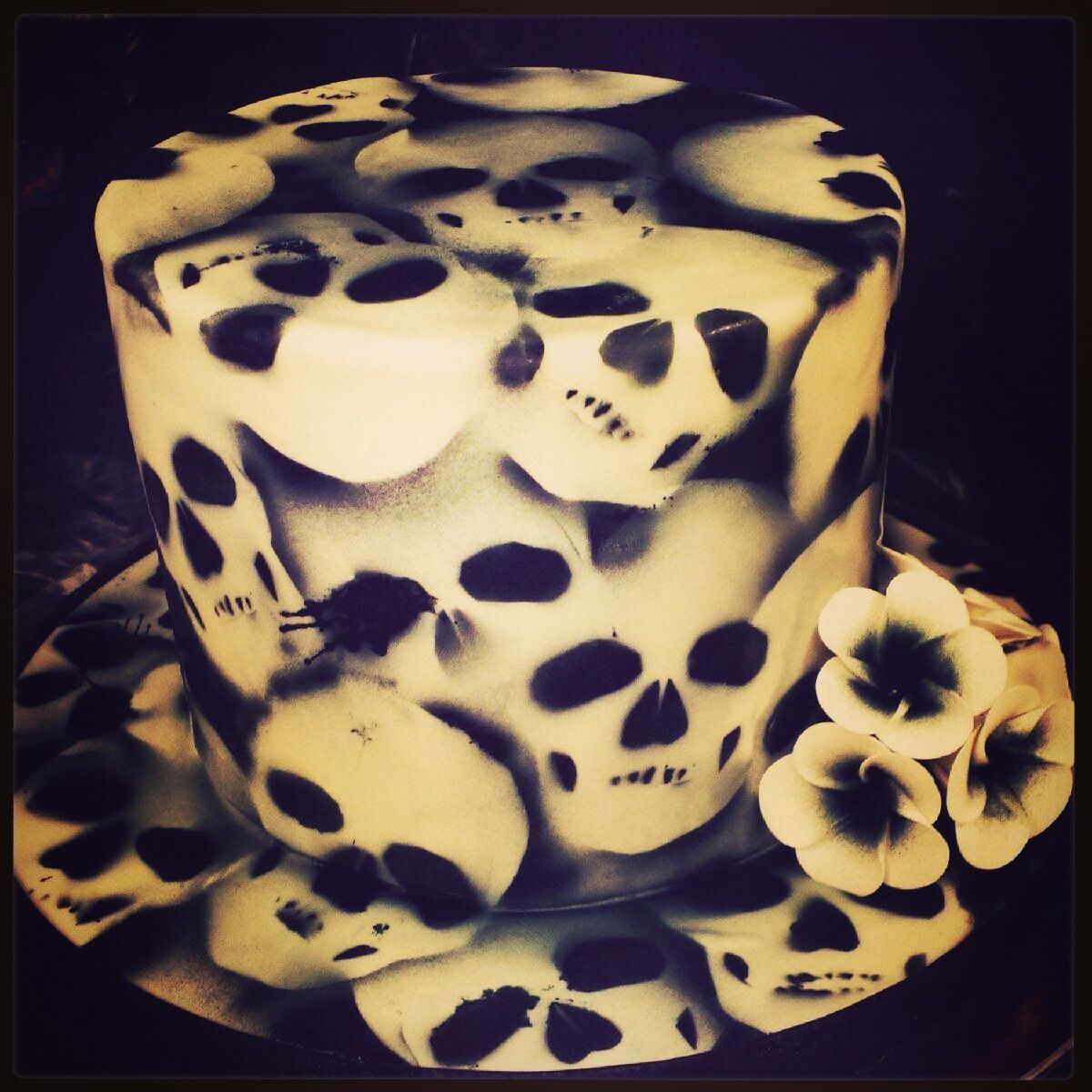Tremendous Skull Birthday Cake With Images Cupcake Birthday Cake Skull Funny Birthday Cards Online Barepcheapnameinfo