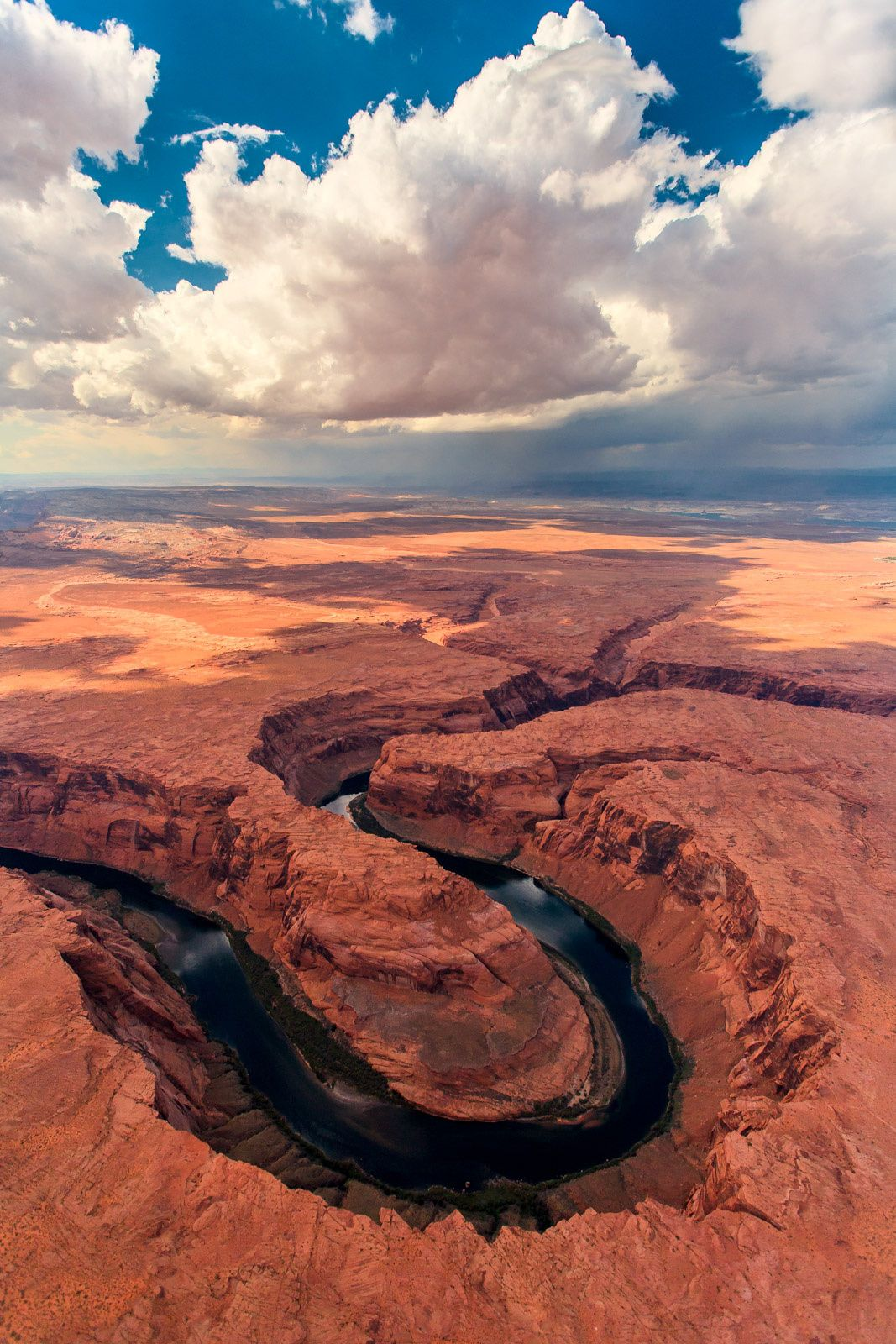 Colorado River Porn - Horseshoe Bend, one of the most photographed areas on the Colorado River;  just north