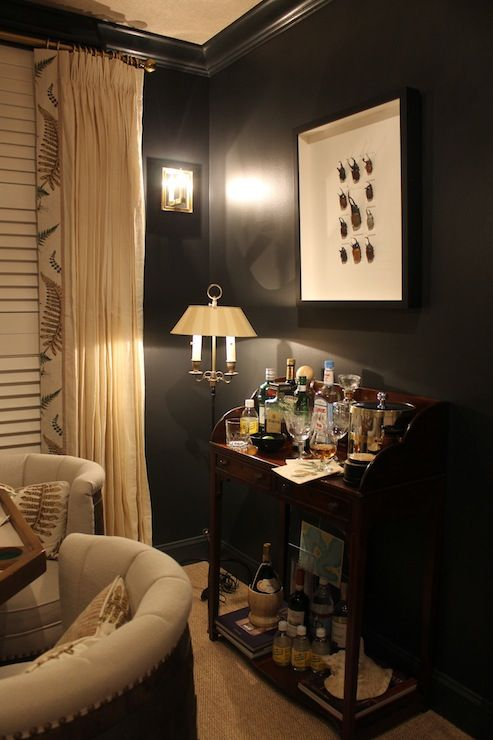 If you have a game room or recreation area in your home, it's important to have good lighting. Material Girls: Tracker Home Decor - Black game room with ...