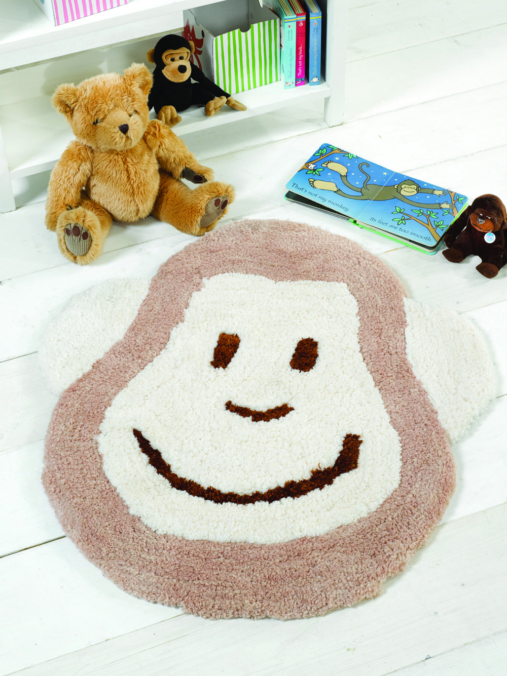 Cute Monkey Rug For Your Nursery Or As A Neutral Baby Present Http Bit Ly 1otvoui