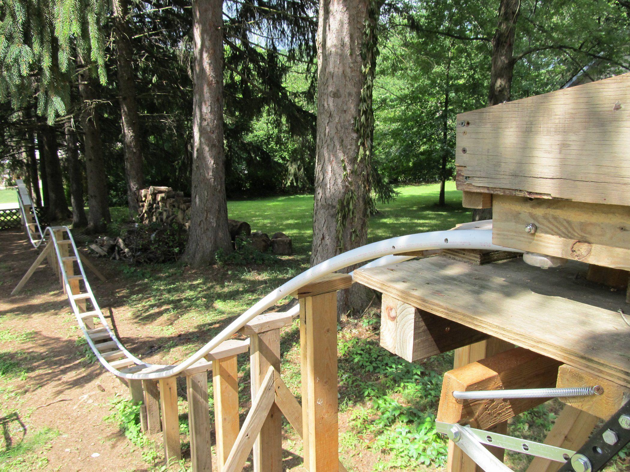 Backyard Roller Coaster   Homemade roller coaster ...