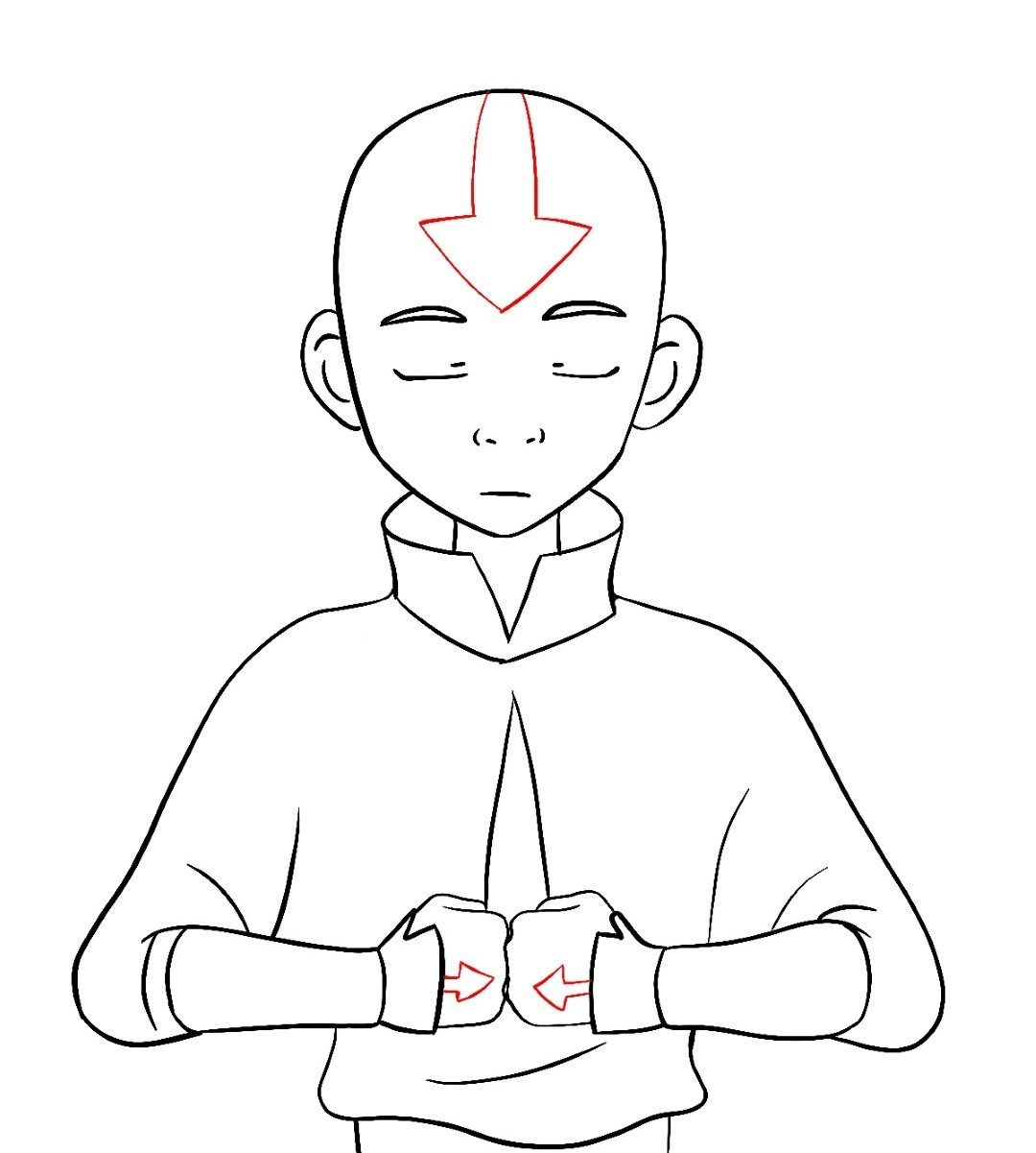 How To Draw Aang Avatar The Last Airbender Draw Central Avatar Cartoon Avatar The Last Airbender Art Avatar Tattoo
