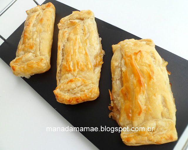 Maná da Mamãe: Pacotinhos de massa folhada com creme de banana e laranja