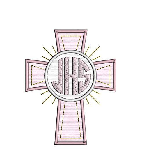 Easter Cross Monogram Frame Applique Design. Cross by jazziest
