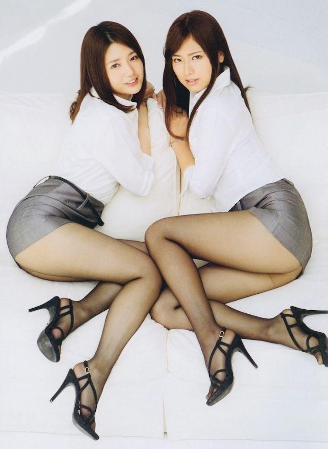 in pantyhose beauties Japanese