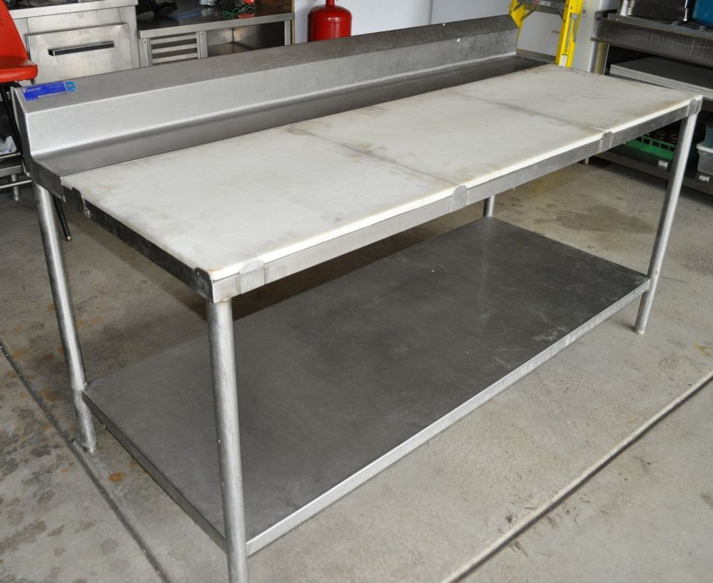 Ordinaire The Tables Have A Heavy Duty 14 Gauge Type 304 Stainless Steel  Construction. With 3 Cutting Boards X Each (cutting Work Area Is 6 Ft Long  X Wide) It Has A ...