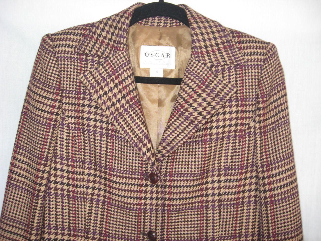 Oscar De La Renta Womens Wool Jacket Blazer Size 4 Designer Coat  $19 @newandDejaVU store @bonanzamarket