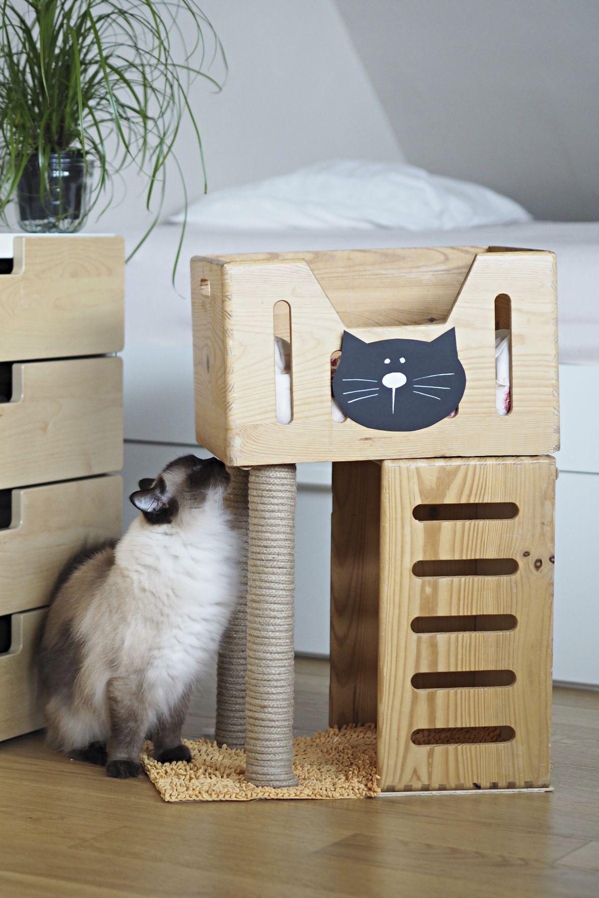 Pin By Evita Bormane On Minkas Pinterest Cat Cat Furniture  # Muebles Customizados De Ikea