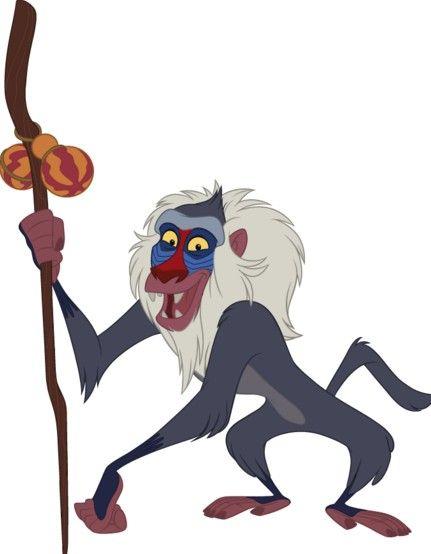 When venturing into unchartered territories it's always ... Lion King Rafiki