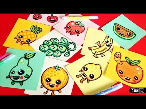 How To Draw Cute Fruits Easy Kawaii Drawings By Garbi Kw Art