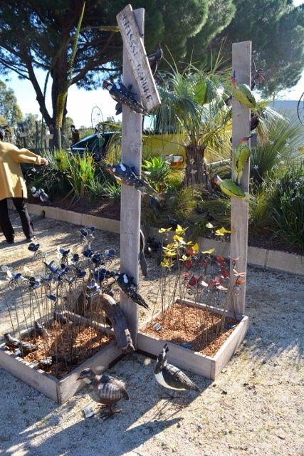Arrosoir et Persil - décoration de jardin en fer forgé déco