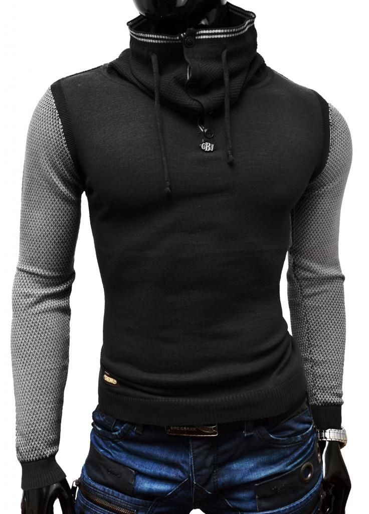 New Sweter Bluza Cipo Baxx Komin Stojka Japan M 4958404246 Oficjalne Archiwum Allegro Mens Fashion Casual Mens Fashion My Style