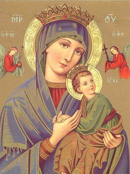 Notre Dame Du Perpétuel Secours : notre, perpétuel, secours, Notre, Perpétuel, Secours, Images, Saintes, Religieux,, Dessin, Colombe,, Vierge