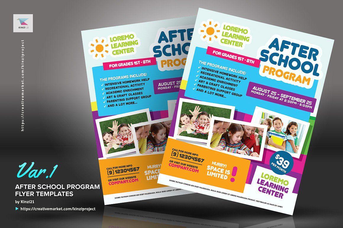 After School Program Flyer Templates #features#specs#Letter