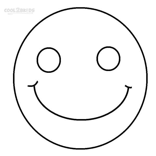 Smiley Face Coloring Pages Cartoon Smiley Face Detailed