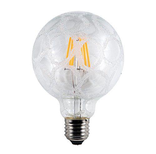5.5w Decorative LED Crackle Large Globe Light Bulb ES E27