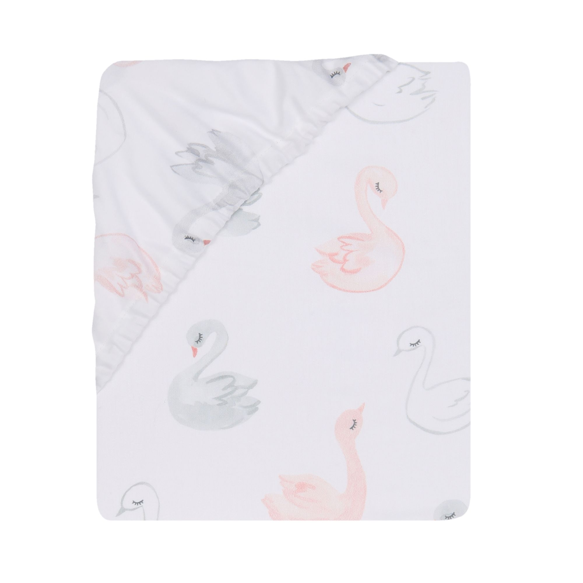 Swans Baby Blanket Cotton Crib Sheet Girl Baby Shower Crib Sheet Grey Crib Sheet Girl Nursery Swan Crib Sheet Swan Nursery