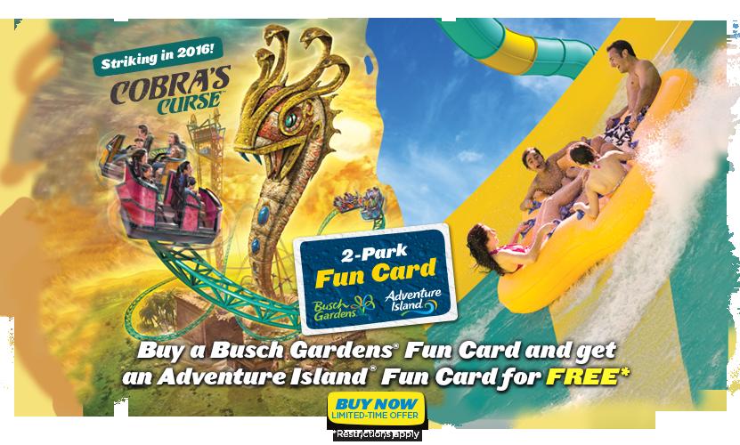 Fun Pass Busch Gardens And Adventure Island