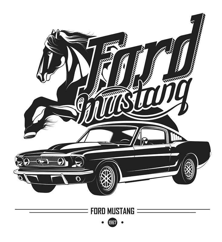 'Ford Mustang 1967' Poster by maximgertsen