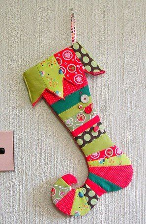 cute stocking, but I don't think anything could fit in there.